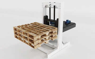 Apilador de pallets / Stacker for empty pallets