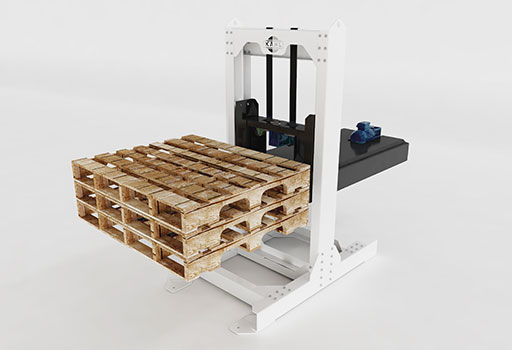 Stacker for empty pallets